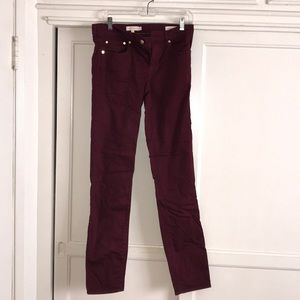 Tory Burch Super Skinny Jeans in wine red